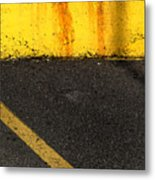 Yellow And Grey Wc  Metal Print