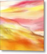 Yellow And Red Landscape Metal Print