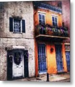 Yellow And White Side By Side Metal Print