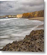 Yellow Bank Cliffs Metal Print