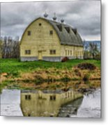 Yellow Barn Metal Print