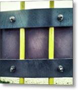 Yellow Bars Close Up  Metal Print