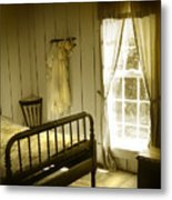 Yellow Bedroom Light Metal Print