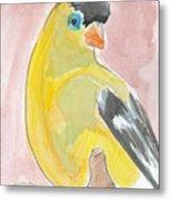 Yellow Bird 56 Metal Print