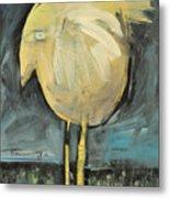 Yellow Bird In Field Metal Print