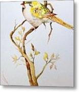 Yellow Bird Metal Print