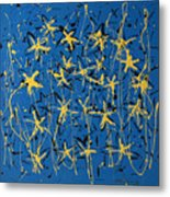 Yellow Blue Metal Print
