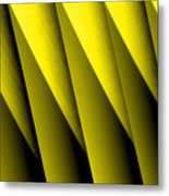Yellow Borders Metal Print