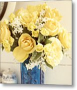 Yellow Bouquet Of Flowers Metal Print