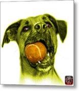 Yellow Boxer Mix Dog Art - 8173 - Wb Metal Print