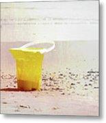Yellow Bucket Metal Print