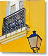 Yellow Building Metal Print