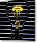 Yellow Bulb Metal Print