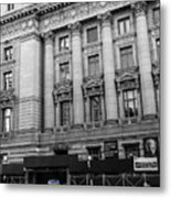 Yellow Cab By The Museum Of Natural History, New York Metal Print