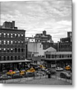 Yellow Cabs In Chelsea, New York 2 Metal Print