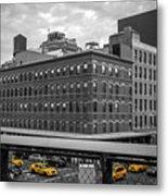 Yellow Cabs In Chelsea, New York 3 Metal Print