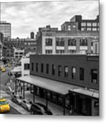 Yellow Cabs In Chelsea, New York 5 Metal Print