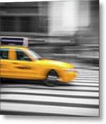 Yellow Cabs In New York 6 Metal Print