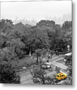 Yellow Cabs Near Central Park, New York Metal Print