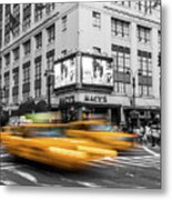 Yellow Cabs Near Macy's Department Store, New York Metal Print