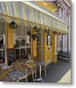 Yellow Cafe Metal Print