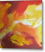 Yellow Clouds Sold Metal Print