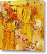 Yellow Conundrum Metal Print