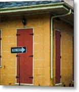 Yellow Cottage French Quarter- Nola Metal Print