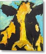 Yellow Cow Metal Print