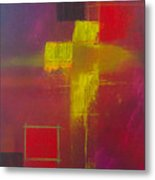 Yellow Cross Metal Print