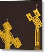 Yellow Crosses Metal Print