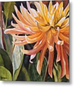 Yellow Dahlia Metal Print by Sharon Freeman