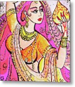 Yellow Devi Metal Print