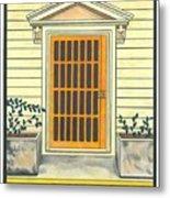 Yellow Door In Panama Metal Print