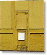 Yellow Door With Accent Metal Print