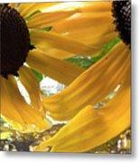 Yellow Droplet Petals Metal Print