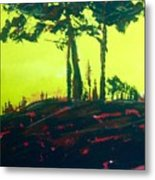 Yellow Dusk Metal Print