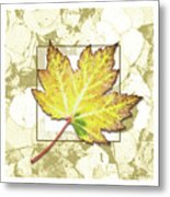 Yellow Fall Metal Print