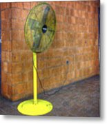 Yellow Fan Metal Print