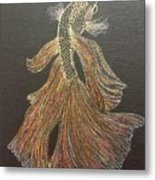 Yellow Fish Metal Print