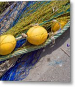 Yellow Floats Metal Print