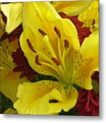 Yellow Floral Metal Print