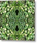 Yellow Flower Mandala 1 Metal Print