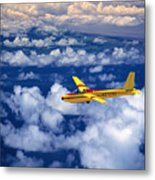 Yellow Glider Metal Print