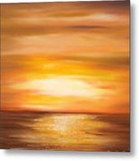 Yellow Gold Sunset Metal Print