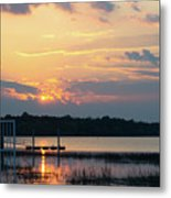 Yellow Gold Sunset Tapestry Metal Print