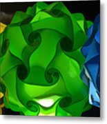 Yellow Green And Blue Metal Print
