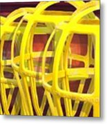 Yellow Guard Metal Print