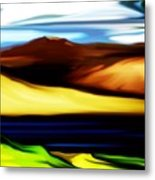Yellow Hills Metal Print