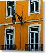 Yellow Italian Building Metal Print